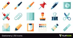 50 free vector icons of Stationery designed by Freepik