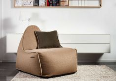 Kick back with a cup of tea and your favourite book on a luxurious bean bag by Danish quality brand SACKit Kick Backs, Outdoor Lounge, Bean Bag, Recliner, Your Favorite, Chair, Luxury, Furniture, Danish