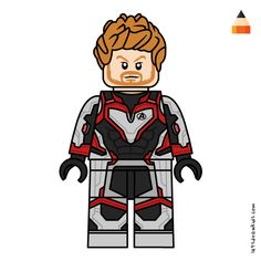 Learn Drawing Lego Avengers Endgame with this step-by-step tutorial and video. Lego Batman, Lego Marvel, Captain Marvel, Simpsons Drawings, Cartoon Drawings, Baby Toothless, Lego Thanos, Adventure Time Drawings, Angry Birds Characters