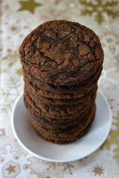 Gluten Free Molasses Cookies- sooo good. I subbed the butter with coconut oil, the sweet white rice flour with sweet sorghum, and the brown rice flour with almond meal. Then added some flaxseed meal for the fiber.