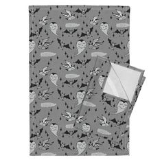 Orpington Tea Towels featuring Vince Vampire's Bats by jacquelinehurd | Roostery Home Decor