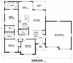 Small Two Bedroom House Plans 1560 Sq Ft Ranch House