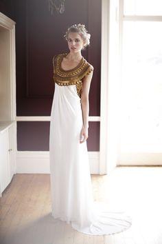 Gorgeous Grecian inspired wedding dress. Temperley, London.