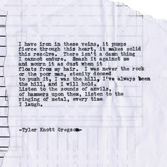 By author Tyler Knott: Typewriter Series #1375 by Tyler Knott Gregson ___ I know there is a typo :) the keys stuck. :) __  Come say hello @TylerKnott on Instagram Facebook and Twitter! #tylerknott #writinglife #favouriteauthor