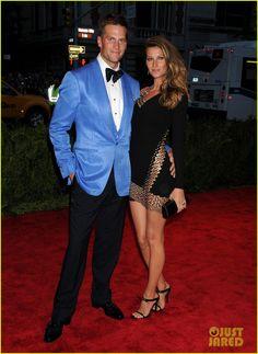 Gisele Bundchen & Tom Brady - Met Ball 2013 Red Carpet
