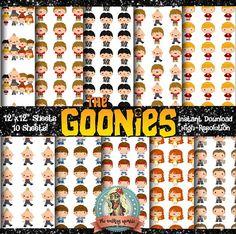 THE GOONIES Digital Paper Pack Scrapbook Paper Digital