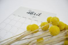 DESCARGABLE ABRIL - ALL YOUR SITES Bobby Pins, Calendar, Hair Accessories, Latest Fashion Trends, Hairpin, Hair Pins, Hair Barrettes, Hair Accessory