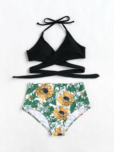 Shop Botanical Print High Rise Wrap Bikini Set online. SheIn offers Botanical Print High Rise Wrap Bikini Set & more to fit your fashionable needs.