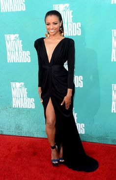 I would rock this dress Kat Graham is wearing to the post office, just so I wouldn't have to take it off.  This is bangin!