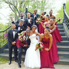 """♡A big @brownu congratulations to Doctor @divaa.md and Lawyer @eyyoray who met as high school seniors on the campus tour at #BrownUniversity.  They had their """"Ever True"""" (a Brown saying of endearment amongst alumni) #EverTrueLove wedding yesterday  couldn't be happier for you two!   via @dammmiii  #BellaNaijaWeddings"""