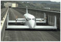 Prototype of hovering high speed train, Japan, 2011