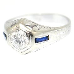 OLD EUROPEAN CUT DIAMOND ENGAGEMENT RING!!!