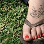 Tatuagens femininas para pés