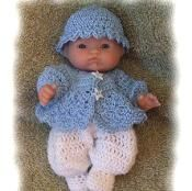 Boy Sweater Set for 5 inch Baby Doll - via @Craftsy