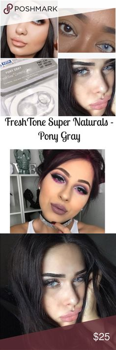 New just in Freshtone luxury pony gray lenses ! *SOLD OUT!!**New just in Freshtone luxury pony gray lenses !  No rings very natural look .  Diameter 14.5  B.C 8.5  Use 1 year - ☺😘 Case is included ! - Same day shipping !📬 Accessories