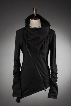 assymetric black sweater
