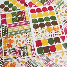 Fall Planner Kit // 65+ Die-Cut Stickers (Perfect for Erin Condren Life Planners) on Etsy, $5.95