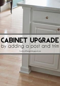 Adding a kitchen counter post to upgrade builder standard kitchen cabinets by melva