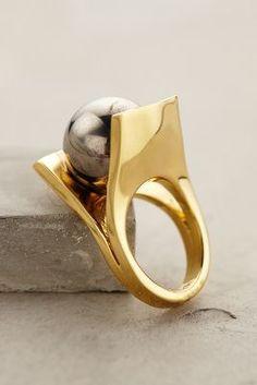 Lele Sadoughi Deco Pinball Ring #anthrofave #anthropologie