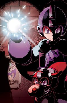 Mega Man 14 Cover by ~herms85.  I remember these two!!