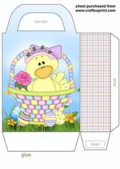 Easter chick gift bag 2 on Craftsuprint designed by Stephen Poore -