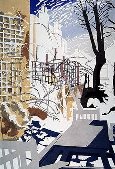 Stark Winter Back Garden by Miles Thistlethwaite 1993