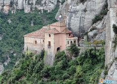 Santa Cova Chapel, Montserrat Mountain, Barcelona    ♥ LIKE & SHARE ♥  Location on Map with more Pic @ http://ijiya.com/8235506