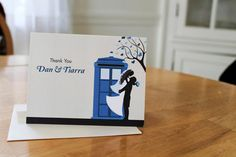 DIY Printable Doctor Who TARDIS Wedding by MarronMarvelousArt, $30.00