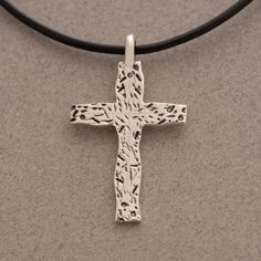 Jewelry Trends Stainless Steel Twopiece Double Cross Pendant on