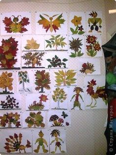 beautiful leaf art - this could be a great project for all ages. Autumn Crafts, Autumn Art, Nature Crafts, Autumn Theme, Kids Crafts, Leaf Crafts, Arts And Crafts, Leaf Projects, Art Projects