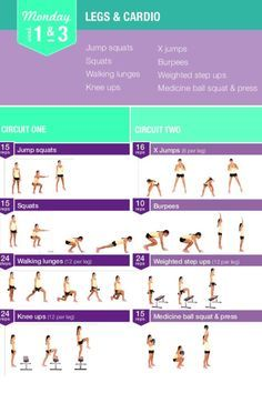 Kayla Itsines Workout Monday week 1&3