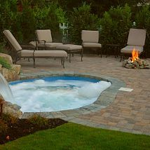 This spa / pool is the perfect solution for a backyard that is too sma… :: Hometalk