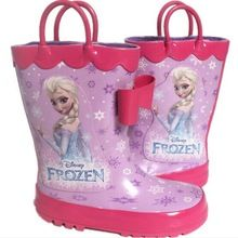 Frozen Shoes Frozen Rain Boots Frozen Rainshoes Cartoon Children Waterproof Boots S140815046 Free DHL Shipping(China (Mainland))