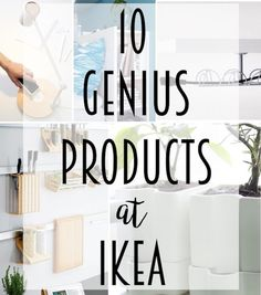 10 Genius Products at IKEA. We all know how addicting IKEA can be and how we can get lost in there; check out this list for the must haves for your kitchen, living room, bedroom, office, and well every other room in your house. These ideas will have you jumping in your car and heading to the nearest IKEA today! #IKEA #organization #ikeahacks #musthaves #kitchenideas @lydioutloud
