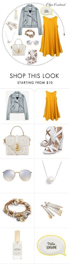 """""""10.08.2017"""" by olgacontrast on Polyvore featuring мода, Dolce&Gabbana, Miss KG, Ray-Ban, Chan Luu, Lizzy James и Mullein & Sparrow"""