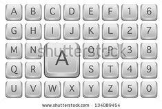 Keyboard Keys Alphabet Letters Isolated On Stock Vector (Royalty Free) 134089454 Keyboard Keys, Computer Keyboard, T 4, Alphabet Letters, Lettering, Royalty, Free, Letters Of Alphabet, Royals