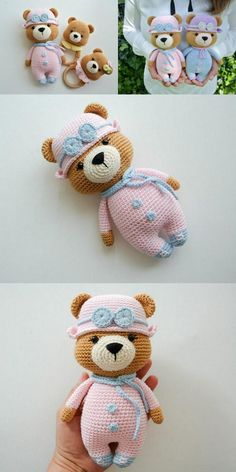 In this article we will share free amigurumi teddy bear crochet patterns. On our site you can find everything you are looking for about amigurumi. Crochet Teddy Bear Pattern, Crochet Bear, Cute Crochet, Crochet For Kids, Crochet Gratis, Crochet Amigurumi, Amigurumi Doll, Crochet Dolls, Animal Knitting Patterns