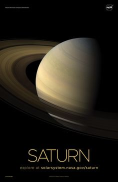 Version C of the Saturn installment of our solar system poster series. Nasa Planets, Space Planets, Space And Astronomy, Space Phone Wallpaper, Look Wallpaper, Galaxy Wallpaper, Solar System Poster, Solar System Art, Galaxy Solar System