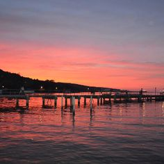 Sunset at Seneca Lake in Watkins Glen, NY