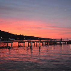 Sunset at Seneca Lake in Watkins Glen, NY