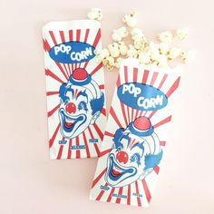 Perfect for your carnival-themed party, fundraiser events, or movie night at home! Carnival Themed Party, Circus Party, Party Themes, Themed Parties, Halloween Carnival, Fall Halloween, Popcorn Bags, Trunk Or Treat, Circus Birthday