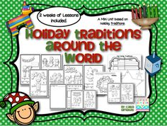 Holiday Traditions Around The World - Mini Unit from Kindergarten Boom Boom on TeachersNotebook.com -  (37 pages)  - This product is a unit based on learning different holiday traditions from different areas around the world. It includes: 4 pages of lesson plans 17 pages of emergent readers with touch points and trace the key words 13 pages of crafts, activities, and ga