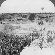 An poster sized print, approx (other products available) - Lord Robert& Infantry crosses the Zand River as a balloon watches for the Boers. (Photo by Hulton Archive/Getty Images) - Image supplied by Fine Art Storehouse - Poster printed in Australia Fine Art Prints, Framed Prints, Canvas Prints, British Soldier, British Army, Photographic Prints, Poster Size Prints, Photo Mugs, Yule