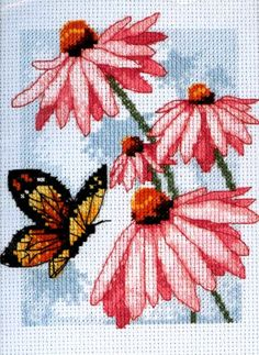 Dimensions Counted #crossstitch  BUTTERFLY & BLOSSOMS #decor #DIY #crafts