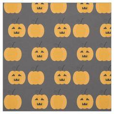 Halloween fabric with pumpkin