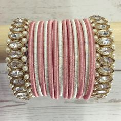 Beautiful Silk Thread Bangles Design To Enchant Everyone With Your Bridal Looks! Silk Thread Bangles Design, Silk Bangles, Silk Thread Earrings, Bridal Bangles, Antique Jewellery Designs, Fancy Jewellery, Thread Jewellery, Bridal Jewellery, Jewelry Design Earrings