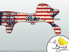Baby Helmet Decal Wrap Design Nautical USA by lilbirdcreation