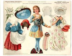 1911 Baltimore American Newspaper Supplement Paper Doll Cut Out Series French | eBay