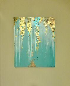 Original pintura abstracta moderna pintura por GlassPalaceArts #buyart #cuadrosmodernos #art