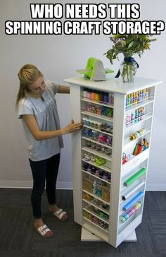craft area for kids ; craft area in living room ; craft area in bedroom ; craft area in basement Craft Room Storage, Sewing Room Organization, Organization Ideas, Storage Ideas, Paper Storage, Organizing Sewing Rooms, Organizing Drawers, Organizing Crafts, Ribbon Storage